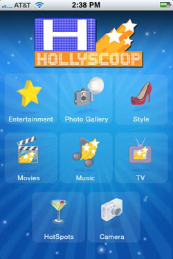 Hollyscoop iPhone
